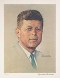 Autographs:Artists, Limited Edition Print of John F. Kennedy Signed by NormanRockwell....