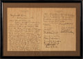 Autographs:U.S. Presidents, Warren G. Harding Letter Signed ...