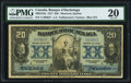 Canadian Currency, Montreal, PQ- Banque d'Hochelaga $20 2.1.1917 Ch.# 360-24-18a PMG Very Fine 20.. ...