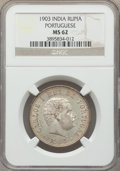 India:Portuguese Colony, India: Portuguese Colony - Goa. Carlos I Rupia 1903 MS62 NGC,...