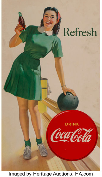 After Gil Elvgren (American, 1914-1980)  Refresh, Drink Coca
