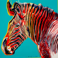 Andy Warhol (1928-1987) Grevy's Zebra, from Endangered Species, 1983 Screenprint in color