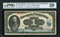 Canadian Currency, St. John's, NF- Government of Newfoundland $1 2.1.1920 NF-12b PMGVery Fine 20.. ...