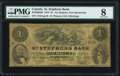 Canadian Currency, St. Stephen, NB- St. Stephens Bank $1 1.10.1873 Ch.# 675-20-04-02 PMG Very Good 8.. ...