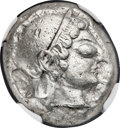 Ancients:Greek, Ancients: ATTICA. Athens. Ca. 510/500-480 BC. AR tetradrachm (22mm, 16.16 gm, 5h). NGC XF 4/5 - 4/5....