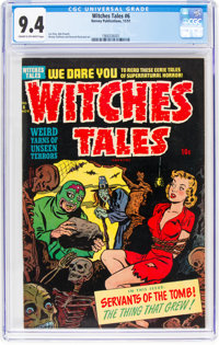 Witches Tales #6 (Harvey, 1951) CGC NM 9.4 Cream to off-white pages