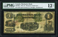 Canadian Currency, Montreal, PQ- Mechanics Bank $4 1.6.1872 Ch.# 430-10-04c PMG Fine12 Net.. ...
