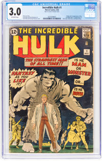 The Incredible Hulk #1 (Marvel, 1962) CGC GD/VG 3.0 Off-white pages