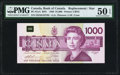Canadian Currency, BC-61aA $1000 1988 Replacement PMG About Uncirculated 50 EPQ.. ...