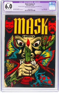 Mask Comics #1 (Rural Home, 1945) CGC Apparent FN 6.0 Slight (C-1) Off-white to white pages