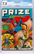Golden Age (1938-1955):Superhero, Prize Comics #15 (Prize, 1941) CGC VF- 7.5 Off-white to white pages....