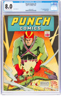 Golden Age (1938-1955):Superhero, Punch Comics #1 (Chesler, 1941) CGC VF 8.0 Off-white to white pages....