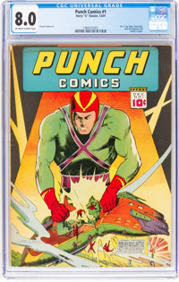 Punch Comics #1 (Chesler, 1941) CGC VF 8.0 Off-white to white pages