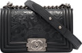 """Luxury Accessories:Bags, Chanel Limited Edition Black """"Cordoba"""" Small Boy Bag with Ruthenium Hardware. Condition: 1. 8"""" Width x 5"""" Height x 3"""" ..."""