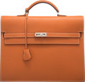 """Luxury Accessories:Bags, Hermès 34cm Fauve Epsom Leather Kelly Depeche Briefcase with Palladium Hardware. I Square, 2005. Condition: 3. 13""""..."""