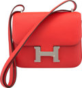 Luxury Accessories:Bags, Hermès 18cm Rouge Tomate Evercolor Leather Mini Constance III Bag with Palladium Hardware. X, 2016. Condition: 1. ...