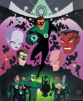 """Animation Art:Limited Edition Cel, """"In Brightest Day"""" Green Lantern Limited Edition Cel #95/250(Warner Brothers, 2000)...."""