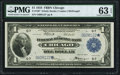 Fr. 729* $1 1918 Federal Reserve Bank Note PMG Choice Uncirculated 63 EPQ