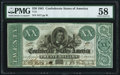 Confederate Notes:1861 Issues, T21 $20 1861 PF-6 Cr. 146 PMG Choice About Unc 58.. ...