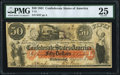 Confederate Notes:1861 Issues, T15 $50 1861 PF-1 Cr. 79 PMG Very Fine 25.. ...