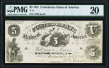 Confederate Notes:1861 Issues, T11 $5 1861 PF-4 Cr. 44 PMG Very Fine 20.. ...