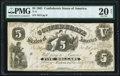 Confederate Notes:1861 Issues, T11 $5 1861 PF-1 Cr. 42 PMG Very Fine 20 Net.. ...