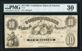 Confederate Notes:1861 Issues, T10 $10 1861 PF-1 Cr. 38A PMG Very Fine 30.. ...