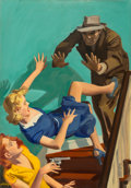 Mainstream Illustration, Hugh Joseph Ward (American, 1909-1945). Extradite A Corpse, Private Detective Stories magazine cover, August 1943. Oil o...