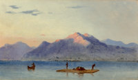 Judah LeVasseur (American, Active 1838-1842) Fishing on the Lake of Managua, Nicaragua: A Pair of Works