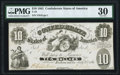 Confederate Notes:1861 Issues, T10 $10 1861 PF-10 Cr. 40C PMG Very Fine 30.. ...