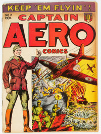 Captain Aero Comics #2 (Holyoke Publications, 1942) Condition: VG