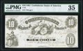 Confederate Notes:1861 Issues, T10 $10 1861 PF-6 Cr. 40A PMG Choice Very Fine 35.. ...