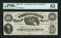 T7 $100 1861 PF-6 Cr. 13 PMG Choice Uncirculated 63