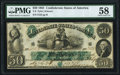 "Confederate Notes:1861 Issues, Manuscript Endorsement ""W. J. Anderson"" T6 $50 1861 PF-1 Cr. 6 PMG Choice About Unc 58.. ..."