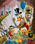 Memorabilia:Disney, Carl Barks First National Bank of Cibola Signed Limited Edition Lithograph Print #300/345 (Another Rainbow, 1987)....