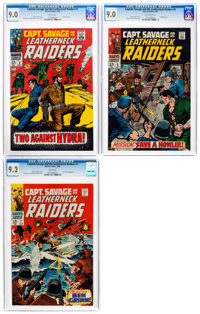 Captain Savage and His Leatherneck Raiders #3, 6, and 7 CGC-Graded Group (Marvel, 1968).... (Total: 3 )