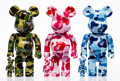 Collectible:Contemporary, BE@RBRICK X BAPE. ABC Be@rbrick 400% and 100%, set of three, 2017. Painted cast vinyl. 10-1/2 x 5-1/4 x 3-1/2 inches (26... (Total: 6 Items)