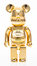 Collectible:Contemporary, BE@RBRICK X BAIT. Gold Bar 400%, 2017. Chromed cast vinyl. 10-3/4 x 5 x 3-1/2 inches (27.3 x 12.7 x 8.9 cm). Stamped to ...