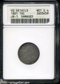 Early Dimes: , 1801 10C--Damaged--ANACS. VG Details, Net Good 4....