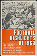 "Movie Posters:Sports, Football Highlights of 1963 (Universal, 1963). One Sheet (26.5"" X 40.5""). Sports...."