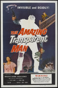 """Movie Posters:Science Fiction, The Amazing Transparent Man (Miller-Consolidated Pictures, 1959). One Sheet (27"""" X 41""""). Science Fiction...."""