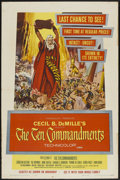 "Movie Posters:Historical Drama, The Ten Commandments (Paramount, R-1960). One Sheet (27"" X 41"").Historical Drama...."