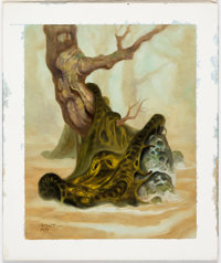 """Mike Ploog and Brom (Gerald Brom) Guardians Collectible Card Game """"Humungous Fungus"""" Card Painting Original Ar..."""