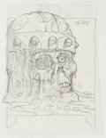 "Original Comic Art:Illustrations, Brom (Gerald Brom) Guardians Collectible Card Game ""Slippery Slime"" Card Pencils Illustration Original Art (FPG, 1..."