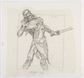 "Original Comic Art:Illustrations, Brom (Gerald Brom) Guardians Collectible Card Game ""Undead Guy"" Card Pencils Illustration Original Art (FPG, 1995)..."