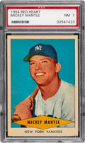 Baseball Cards:Singles (1950-1959), 1954 Red Heart Mickey Mantle # PSA NM 7....