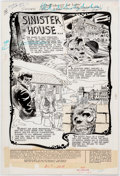 Original Comic Art:Splash Pages, John Calnan Secrets of Sinister House #16 Splash PageOriginal Art (DC, 1974)....