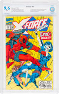 Modern Age (1980-Present):Science Fiction, X-Force #11 (Marvel, 1992) CBCS NM+ 9.6 White pages....