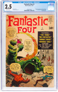 Silver Age (1956-1969):Superhero, Fantastic Four #1 (Marvel, 1961) CGC GD+ 2.5 Off-white pages....