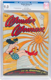 Wonder Woman #21 (DC, 1947) CGC VF/NM 9.0 White pages
